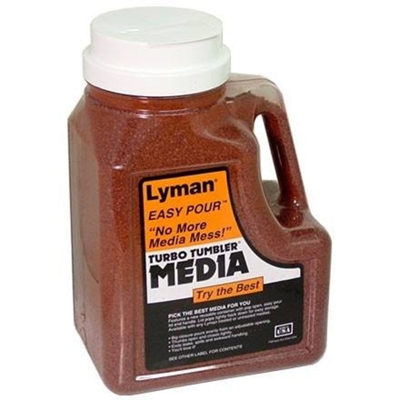 Picture of Lyman Turbo Tumblers, Media & Accessories - Tumbling Media, Turbo Tufnut Media, 7lbs Easy Pour Container