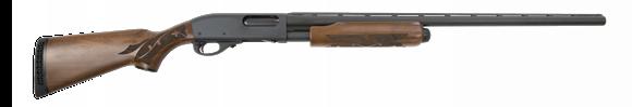 "Picture of Remington Model 870 200th Year Anniversary Commemorative Edition Pump Action Shotgun - 12Ga, 3"", 28"", Vented Rib, Matte Black, A-Grade Walnut Stock w/Fleur de Lis Checkering & Medallion in Grip, 4rds, Twin Bead Sight, Rem Choke (Modified)"