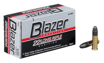 Picture of CCI Blazer Rimfire Ammo - High Velocity, 22 LR, 40Gr, LRN, 50rds Box, 1235fps
