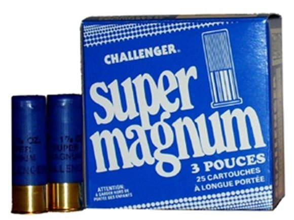 "Picture of Challenger Super Steel Magnum Shotgun Ammo - 12Ga, 3"", 1-1/8oz, #3, 25rds Box"