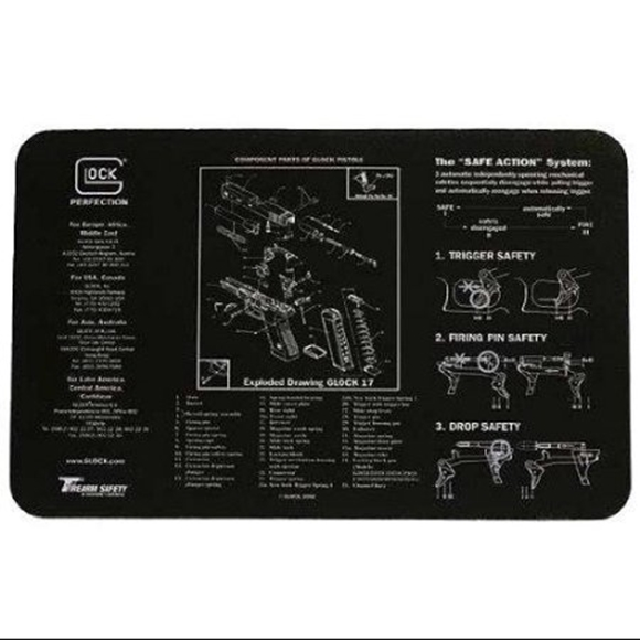 Picture of Glock Gunsmith's Bench Mat - Black Neoprene, with Exploded Parts View Gen 4