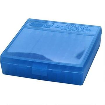 Picture of MTM Case-Gard Handgun Ammo Box, P-100 Series - P-100-45, 100rds, Clear Blue