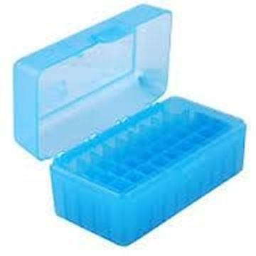 Picture of MTM Case-Gard R-50 Series Rifle Ammo Box - RMLD-50, 50rds, Clear Blue