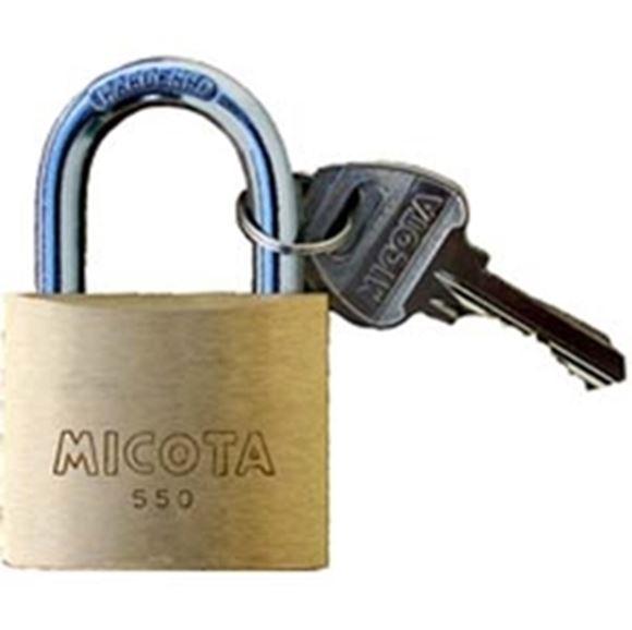 "Picture of Micota Padlocks - Brass Double Locking, 1-1/4"", KA2, Boxed"