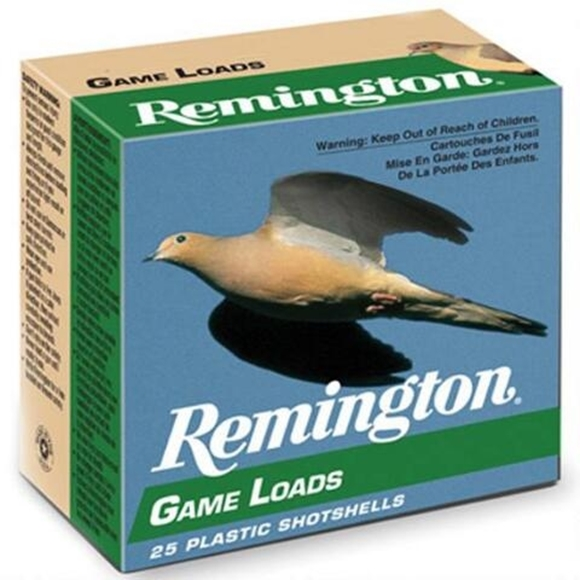 "Picture of Remington Upland Loads, Lead Game Loads Shotgun Ammo - 12Ga, 2-3/4"", 3-1/4 DE, 1oz, #6, 25rds Box, 1290fps"
