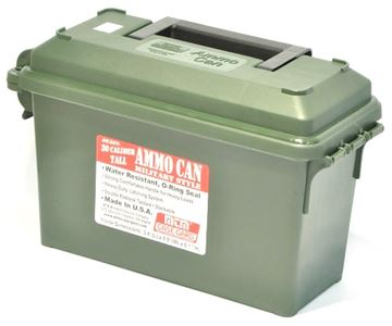 "Picture of MTM Case-Gard Ammo Can - 30 Caliber, Tall, Military Style, Forest Green, 3.4""(L)x8.9""(W)x6.1""(H)"