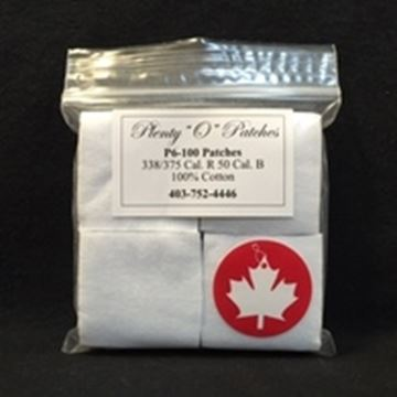 "Picture of Plenty ""O"" Patches Cotton Patches - .338/.375 Caliber R, .50 Caliber BP, 100pcs"