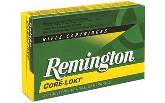 Picture of Remington Core-Lokt Centerfire Rifle Ammo - 303 British, 180Gr, Soft Point, 20rds Box