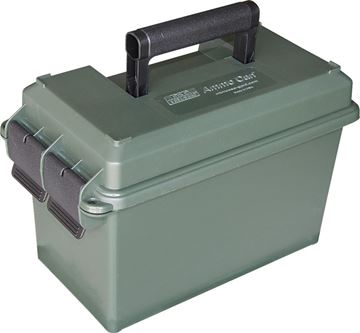 """Picture of MTM Case-Gard Ammo Cans, 50 Caliber Ammo Can - 7.4""""(L)x13.5""""(W)x8.5""""(H) / 5.8""""(L)x11.0""""(W)x7.2""""(H), Forest Green"""