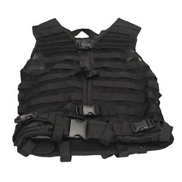 "Picture of NcSTAR Performance Gear, Vest & Chest Rigs, Visms - Zombie Stryke ""Zombat"" Charlie Kit, w/Vest & 5 Pouches, Black"