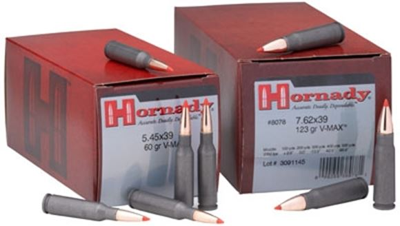 Picture of Hornady Custom Rifle Ammo - 7.62x39mm, 123Gr, SST Steel Case, 500rds Case