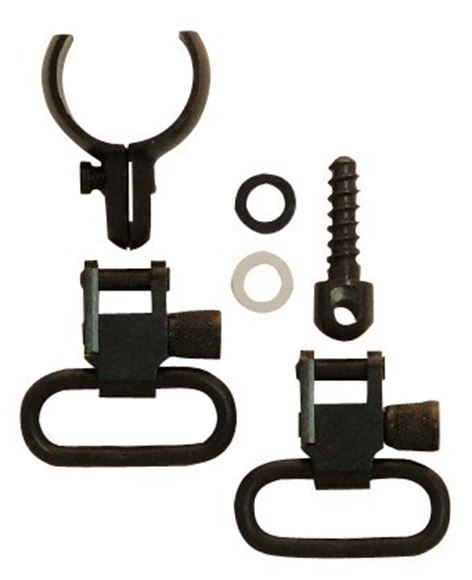 "Picture of GrovTec GT Swivels, GT Barrel Band Sets - Two-Piece Barrel Band Set, .850""-.900"", 1"" Loops, Blued"