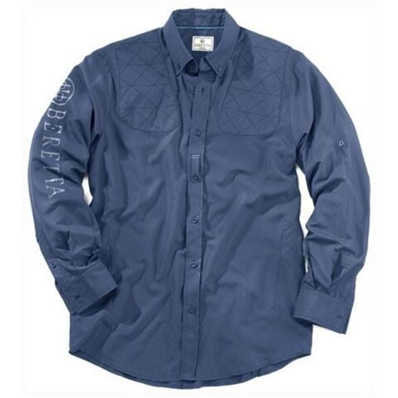 Picture of Beretta Men's Clothing, Shirts - Beretta V-TECH Long Sleeved Shirt, Blue, XL