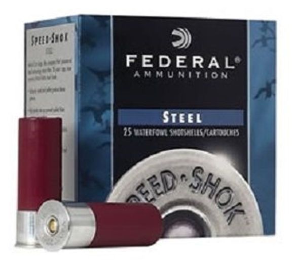"Picture of Federal Speed-Shok Waterfowl Load Shotgun Ammo - 20Ga, 3"", 7/8oz, #2, Steel, 25rds Box, 1300fps"