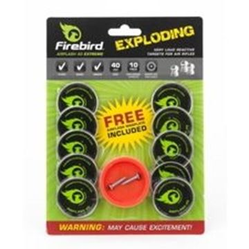 Picture of Firebird Exploding Targets, For Air Rifle Shooting - AirFlash 40mm Extreme Reactive Targets, 40mm, 10-Pack, w/Free Airflash Extreme Magplate