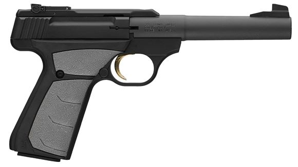"Picture of Browning Buck Mark Camper UFX Rimfire Single Action Semi-Auto Pistol - 22 LR, 5-1/2"", Matte Black Aluminum Alloy Receiver, Textured Grip Panels, 10rds, Pro-Target Sights"