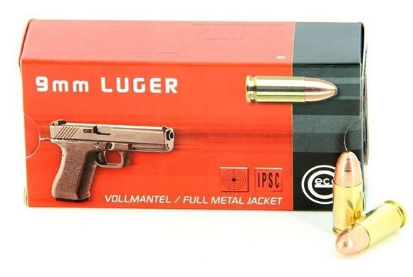 Picture of Geco Pistol Ammo - 9mm, 124gr, FMJ, 50rds box