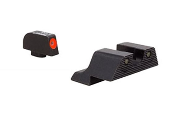 Picture of Trijicon Iron Sights, Trijicon HD XR Night Sights - Glock Trijicon HD XR Night Sight Set, Orange Front Outline, Fits Glock Models 17/17L/19/22/23/24/25/26/27/28/31/32/33/34/35/37/38/39