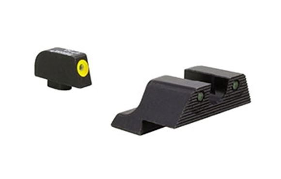 Picture of Trijicon Iron Sights, Trijicon HD XR Night Sights - Glock, GL604-C-600840, Glock Trijicon HD XR Night Sight Set, Yellow Front Outline, Fits Glock Models 20, 21, 29, 30, & 41