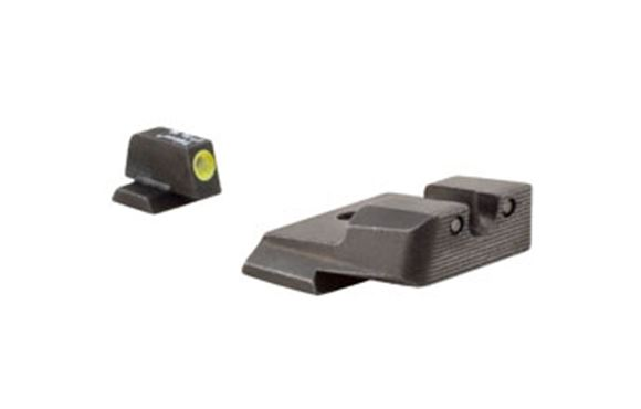 Picture of Trijicon Iron Sights, Trijicon HD XR Night Sights - Smith & Wesson Trijicon HD XR Night Sight Set, Yellow Front Outline, Fits S&W M&P, SD9VE, SD40VE