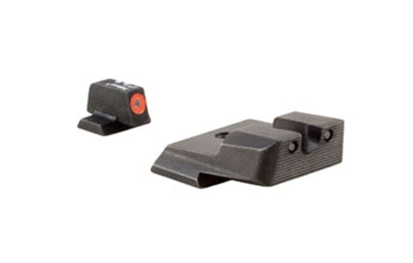 Picture of Trijicon Iron Sights, Trijicon HD XR Night Sights - Smith & Wesson Trijicon HD XR Night Sight Set, Orange Front Outline, Fits S&W M&P, SD9VE, SD40VE