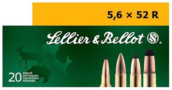 Picture of Sellier & Bellot Rifle Ammo - 5.6x52R, 70Gr, SP, 20rds Box