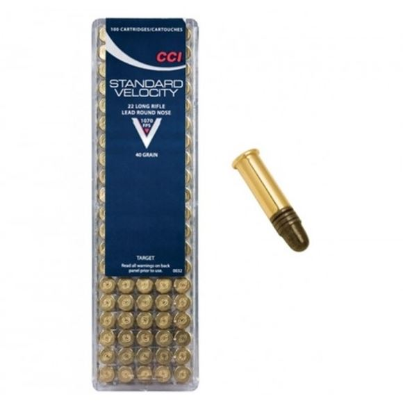 Picture of CCI Target/Plinking Rimfire Ammo - Standard Velocity, 22 LR, 40Gr, LRN, 5000rds Case, 1070fps