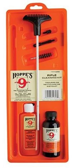 Picture of Hoppe's No.9 Cleaning Kits - Rifle Kit w/Aluminum Rod, (.22, .222, .223, .224, .225, .243, .25, .25-06, .257)