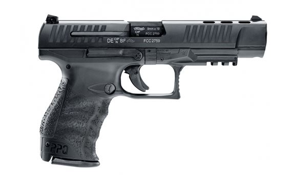 Picture of Walther PPQ M2 B Semi-Auto Pistol - 9mm, 118mm, Tenifer Black, Compensated Steel Slide & Polymer Frame, 2x10rds, 3 Dot Sights, Rail