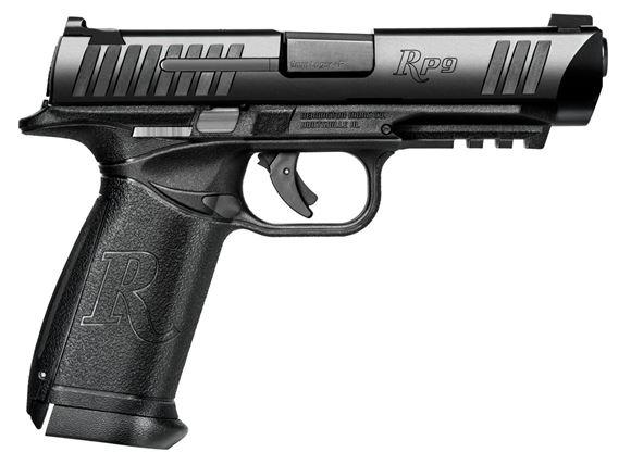 """Picture of Remington Striker Action Pistol - RP9, 9mm Luger, 4.5"""", Matte Black, 3 Grip Panel, 2x10rds, 3 Dot Sight, Black Polymer Frame"""