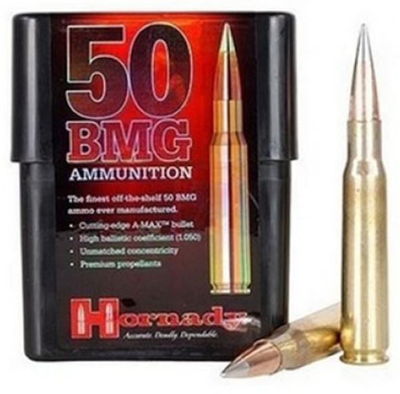 Picture of Hornady Match Rifle Ammo - 50 BMG, 750Gr, A-MAX Match, 100rds Case