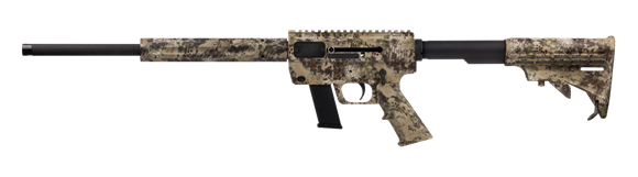 "Picture of Just Right Carbines (JR Carbine) Glock Magazine Takedown Model Semi-Auto Carbine - 9mm, 18.6"", Threaded, Kryptek HIG Camo, 6061T-6 Aluminum w/Black Hardcoat Anodizing Receiver, Telescoping 6-Position Collapsible M-4 Style Buttstock, Glock Mag, 10rd"