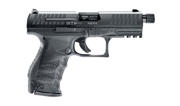 """Picture of Walther PPQ M2 Navy Single Action Semi-Auto Pistol - 9mm, 4.6"""", Threaded Barrel, Steel Slide & Polymer Frame, 2x10rds, 3 Dot Sights, Rail"""