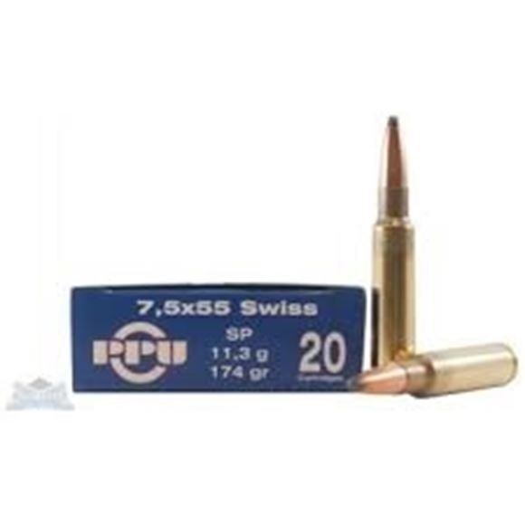 Picture of Prvi Partizan (PPU) Rifle Ammo - 7.5x55mm Swiss, 174Gr, SP, 20rds Box