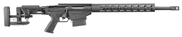 "Picture of Ruger Precision Bolt Action Rifle - 308 Win, 20"", Cold Hammer Forged 4140 Chrome-Moly w/5R Rifling 1:10"", Medium Contour 5/8''-24 Threads w/ Muzzle Brake, Black Oxide/Hardcoat Anodize, MSR Folding Adjustable LOP & Comb Stock, 10rds, Ruger Marksman 2.2"