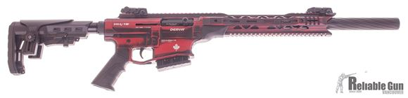"""Picture of Derya Arms MK-12 Canadian Edition Model AS106S Vertical Magazine Semi-Auto Shotgun - 12Ga, 3"""", 20"""", Blurred Red w/ White Maple Leaf, Synthetic Stock, 1x2rds, 2x5rds, AR Flip Up Sights, Barrel Shroud, 3 Mobil Choke"""
