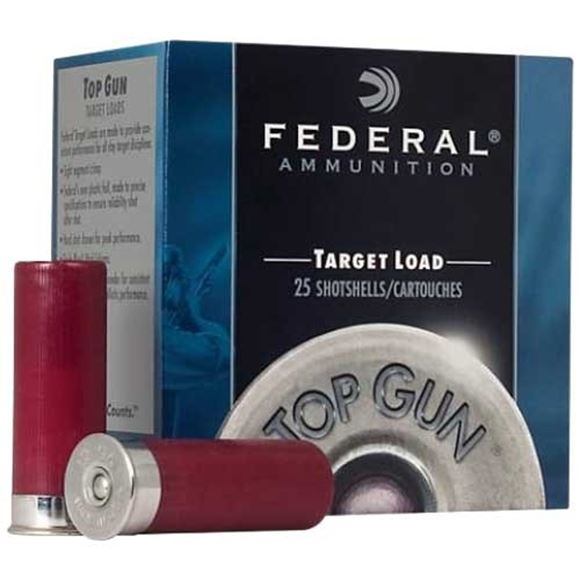 "Picture of Federal Top Gun Target Load Shotgun Ammo - 12Ga, 2-3/4"", 3DE, 1oz, #8, 250rds Case"