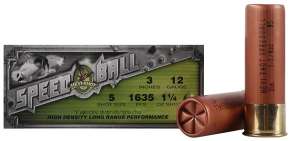 "Picture of Hevi-Shot Speed Ball Shotgun Ammo - 12ga, 3"" 1-1/4oz, #5, 1635fps, 10rds box"