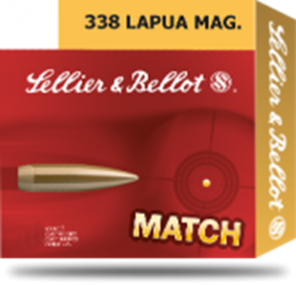 Picture of Sellier & Bellot Target (Match) Rifle Ammo - 338 Lapua Mag, 250Gr, HPBT, 100rds Case