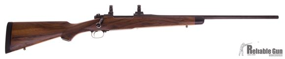 Picture of Used Dakota Arms Model 76 Bolt-Action .338 Win Mag, With Factory MPI Stock & Custom Wood Stock, Magna-Ported, Excellent Condition