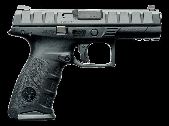 "Picture of Beretta APX Semi Auto Striker Action Pistol - 9mm Luger, 4.9"", Matte Black, 3 Dot Sight, 2x10rds, Black Polymer Frame"