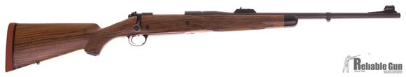 "Picture of Kimber Specialty Caprivi Bolt Action Rifle - 375 H&H Mag, 24"", Magnum Contour, Matte Blue, Hand-Rubbed Oil AA-Grade French Walnut Stock, 4rds, Express Sights, Adjustable Trigger, 3-Position Model 70-Type Safety"