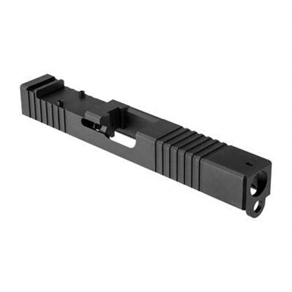 Picture of Custom Glock Slide - Stainless Steel Slide w/Front Cut RMR, Black Nitride Finish, Fits Glock 19 Gen 3
