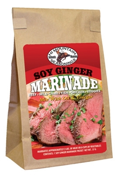 Picture of Hi Mountain Seasoning - Soy Ginger Marinade, 37g Pack