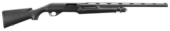 """Picture of Benelli Nova Field Compact (Youth) Pump Action Shotgun - 20Ga, 3"""", 24"""", Blued, Black Synthetic Stock, 4rds, Metal Mid-Bead & Red Fiber Optic Front Sights, Mobil Choke (IC,M,F)"""