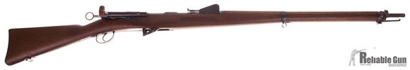 "Picture of Used Schmidt Rubin 1889 Bolt-Action Rifle - 7.5x53.5mm, Full Military Wood, 30"" Barrel, With Muzzle Cap, Very Good Condition"