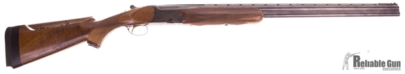 """Picture of Used Miroku Over-Under 20ga, 3"""" Chamber, 28"""" Barrel (IM,IM), With Clamp On Fiber Optic Sight & Adjustable Comb, Good Condtion"""