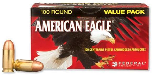Picture of American Eagle Pistol Ammo - 45 Auto, 230gr, FMJ, 100rds Value Pack