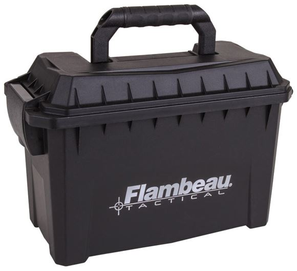 "Picture of Flambeau Compact Ammo Can - 9.75""x4.75""x6"", Black, Weatherproof Gasket"