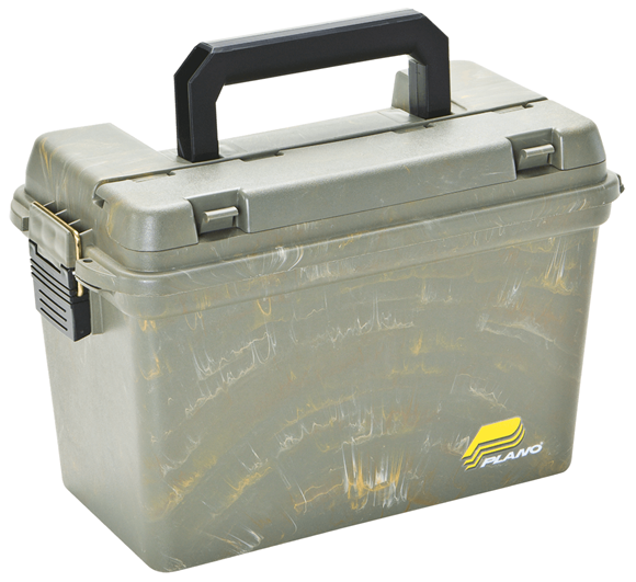 """Picture of Plano Field/Ammo Box - Large, 15""""x8""""x10"""", w/ Lift-Out Tray, Green Camo Swirl"""